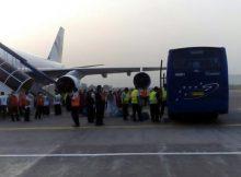 Jamaah Haji Kloter Pertama Embarkasi Makassar Tiba di Tanah Air